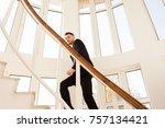 business man in formal suit... | Shutterstock . vector #757134421