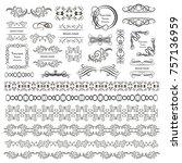 set of vector graphic elements... | Shutterstock .eps vector #757136959