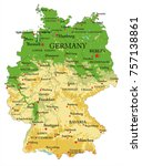 germany physical map | Shutterstock .eps vector #757138861