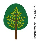 simple green isolated vector... | Shutterstock .eps vector #757139227