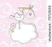 baby announcement card birthday ... | Shutterstock . vector #75715033