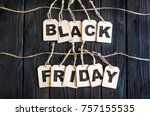 black friday discounts. an... | Shutterstock . vector #757155535