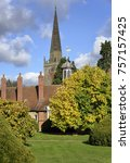 Small photo of Long Alley Almshouse garden & St Helen's Church, Abingdon; Oxfordshire Built 1446
