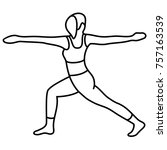yoga pose  asana  pose  posture ...   Shutterstock .eps vector #757163539