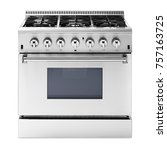 single gas range cooker with...   Shutterstock . vector #757163725
