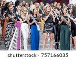 iris mittenaere  miss universe... | Shutterstock . vector #757166035