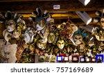 traditional venetian mask in...   Shutterstock . vector #757169689