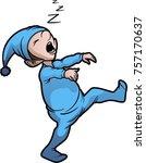 boy sleep walking   Shutterstock .eps vector #757170637