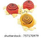 animal dolls made of bread | Shutterstock . vector #757170979