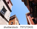 typical buildings in madrid... | Shutterstock . vector #757172431
