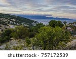 panoramic image of the coast of ...   Shutterstock . vector #757172539