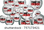 time to order clocks flying buy ... | Shutterstock . vector #757173421