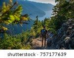 pacific northwest adventure | Shutterstock . vector #757177639