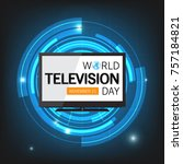 world television day background | Shutterstock .eps vector #757184821