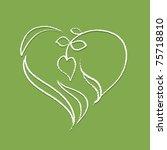 logo   heart shaped plant ... | Shutterstock .eps vector #75718810