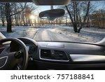 winter landscape of the...   Shutterstock . vector #757188841