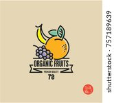 fruits  line fruits label ... | Shutterstock .eps vector #757189639