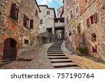 anghiari  arezzo  tuscany ... | Shutterstock . vector #757190764