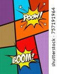 comic book page. vector art... | Shutterstock .eps vector #757191964