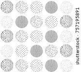japanese pattern vector. polka... | Shutterstock .eps vector #757195891