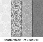 set of monochrome color... | Shutterstock .eps vector #757205341