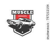 muscle car community logo | Shutterstock .eps vector #757212154