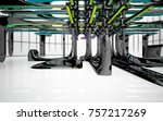 abstract dynamic interior with...   Shutterstock . vector #757217269