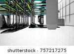 abstract dynamic interior with...   Shutterstock . vector #757217275