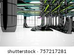 abstract dynamic interior with...   Shutterstock . vector #757217281