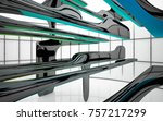abstract dynamic interior with...   Shutterstock . vector #757217299