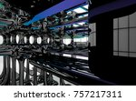 abstract dynamic interior with...   Shutterstock . vector #757217311