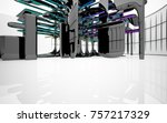 abstract dynamic interior with...   Shutterstock . vector #757217329