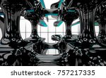 abstract dynamic interior with...   Shutterstock . vector #757217335