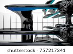 abstract dynamic interior with...   Shutterstock . vector #757217341