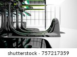 abstract dynamic interior with...   Shutterstock . vector #757217359