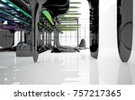 abstract dynamic interior with...   Shutterstock . vector #757217365