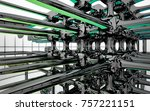 abstract dynamic interior with...   Shutterstock . vector #757221151
