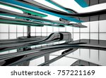 abstract dynamic interior with...   Shutterstock . vector #757221169