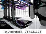 abstract dynamic interior with...   Shutterstock . vector #757221175