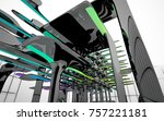 abstract dynamic interior with...   Shutterstock . vector #757221181