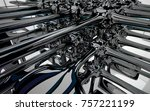 abstract dynamic interior with...   Shutterstock . vector #757221199
