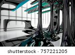 abstract dynamic interior with...   Shutterstock . vector #757221205