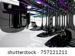 abstract dynamic interior with...   Shutterstock . vector #757221211