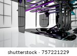 abstract dynamic interior with...   Shutterstock . vector #757221229