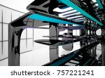 abstract dynamic interior with...   Shutterstock . vector #757221241