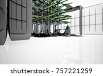 abstract dynamic interior with...   Shutterstock . vector #757221259