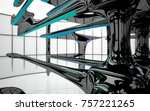 abstract dynamic interior with...   Shutterstock . vector #757221265
