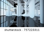 abstract dynamic interior with...   Shutterstock . vector #757223311