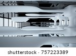 abstract dynamic interior with...   Shutterstock . vector #757223389