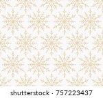 snowflake vector seamless... | Shutterstock .eps vector #757223437